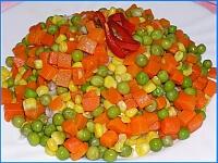 Miešaná zelenina na tanieri