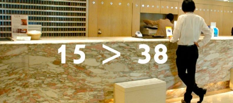 Dá sa zarobiť aj v prípade keď 15 je menej ako 38 ( 15 < 38 )